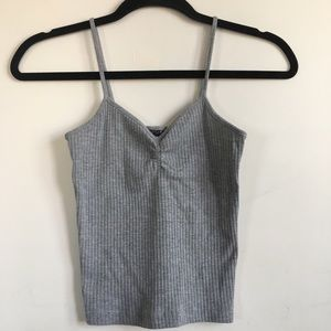 Topshop Ruched Front Tank Top